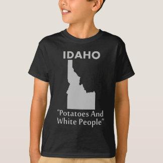 アイダホ-ポテトおよびコーカソイド Tシャツ