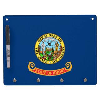 アイダホ、米国の旗を持つホワイトボード キーホルダーフック付きホワイトボード