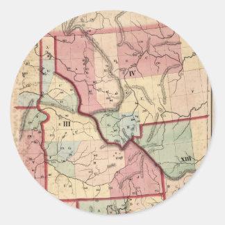 アイダホ(1866年)のヴィンテージの地図 ラウンドシール