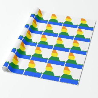 アイダホLGBTの旗の地図 ラッピングペーパー