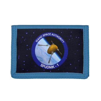 アイダホSpudnikの衛星代表団パッチ ナイロン三つ折りウォレット