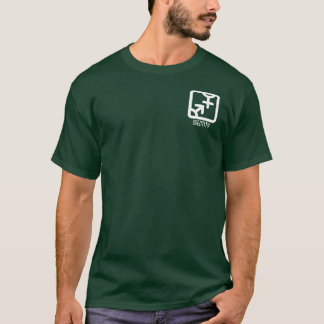 アイデンティティ: 両方暗いワイシャツを懐に入れて下さい Tシャツ
