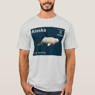 アイボリーのシロイルカ Tシャツ