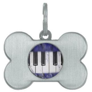 アイボリーのピアノをくすぐって下さい ペットネームタグ