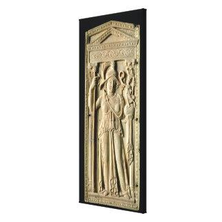 アイボリーのレリーフ、浮き彫りのタブレット キャンバスプリント
