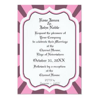アイボリーVIの(ピンクの)結婚式招待状を浸透して下さい カード