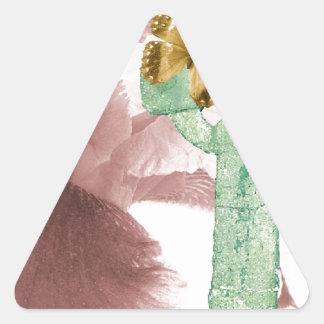 アイリスおよび石のマーカー 三角形シール