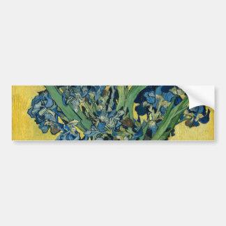 アイリスヴィンテージの芸術1890年のフィンセント・ファン・ゴッホのつぼ バンパーステッカー