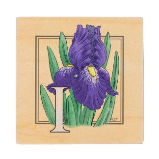 アイリス花のモノグラムの芸術のためのI ウッドコースター