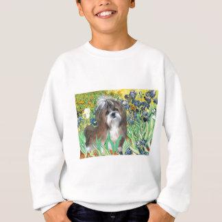 アイリス-シーズー(犬) Tzu (茶色白の) スウェットシャツ