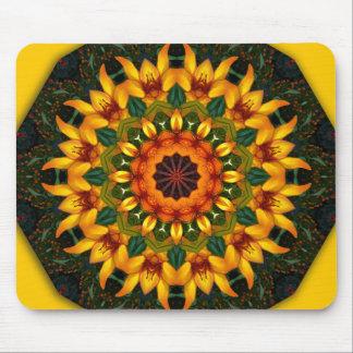 アイリス、花の曼荼羅スタイル マウスパッド