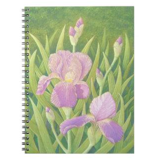 アイリス、Wisleyはページ写真のノート80の庭いじりをします ノートブック