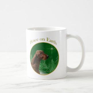 アイリッシュセッターの平和 コーヒーマグカップ