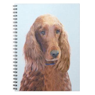 アイリッシュセッターの絵画-かわいい元の犬の芸術 ノートブック