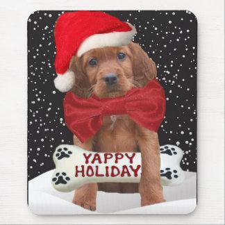 アイリッシュセッターのYappyクリスマスのプレゼントのアイディア マウスパッド