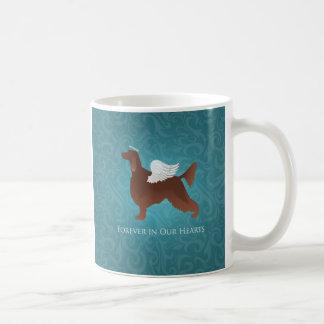 アイリッシュセッターペット記念の天使犬のデザイン コーヒーマグカップ