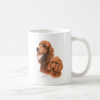 アイリッシュセッター及び子犬 コーヒーマグカップ