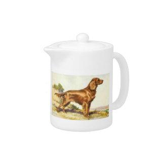 アイリッシュセッター犬のティーポット