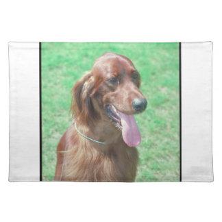 アイリッシュセッター犬のランチョンマット ランチョンマット