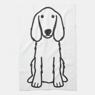 アイリッシュセッター犬の漫画 キッチンタオル