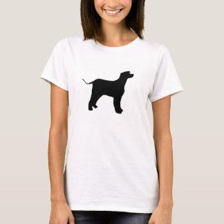 アイリッシュ・ウォーター・スパニエルのサイロの黒 Tシャツ