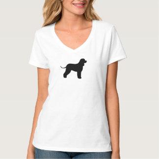 アイリッシュ・ウォーター・スパニエルのシルエット Tシャツ