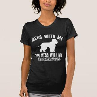 アイリッシュ・ウォーター・スパニエルのデザイン Tシャツ