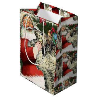 アイリッシュ・ウルフハウンドのクリスマス ミディアムペーパーバッグ