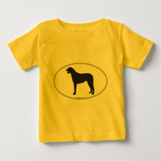 アイリッシュ・ウルフハウンドのシルエット ベビーTシャツ