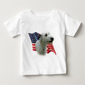 アイリッシュ・ウルフハウンドの旗 ベビーTシャツ