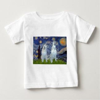 アイリッシュ・ウルフハウンドの組-星明かりの夜 ベビーTシャツ