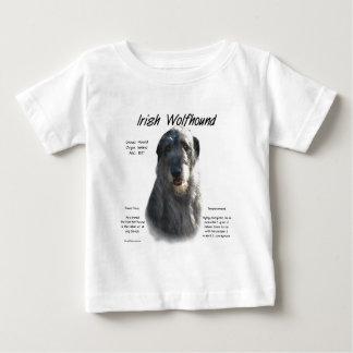アイリッシュ・ウルフハウンドの(灰色の)歴史のデザイン ベビーTシャツ