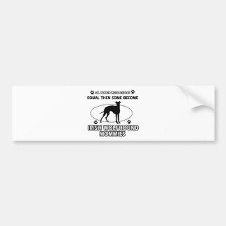 アイリッシュ・ウルフハウンド犬のデザイン バンパーステッカー