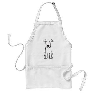 アイリッシュ・ウルフハウンド犬の漫画 スタンダードエプロン
