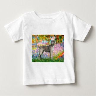 アイリッシュ・ウルフハウンド3 -庭 ベビーTシャツ