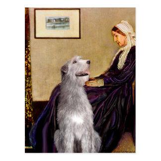 アイリッシュ・ウルフハウンド6 -ホイスラーの母 ポストカード