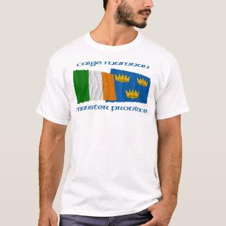 アイルランドおよびミュンスターの地域の旗 Tシャツ