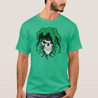 アイルランドのこっけい者のスカル Tシャツ