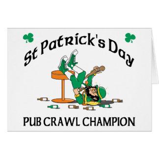 アイルランドのはしご酒のチャンピオン カード