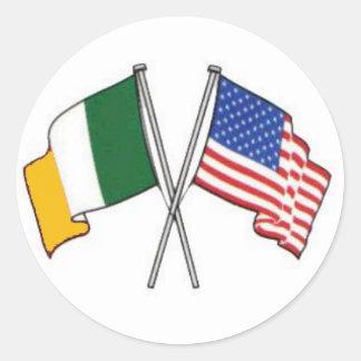 アイルランドのアメリカのステッカー ラウンドシール