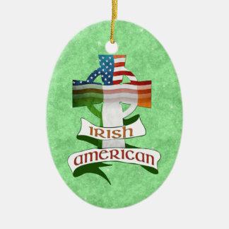 アイルランドのアメリカの十字のオーナメント セラミックオーナメント