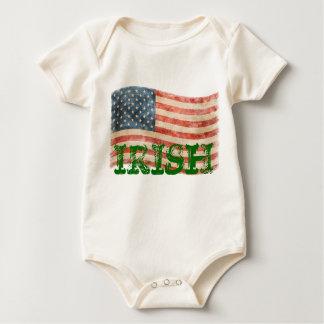 アイルランドのアメリカの素朴で色彩の鮮やかな一見 ベビーボディスーツ