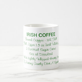 アイルランドのウィスキーのレシピの飲み物のシャムロックを実在して下さい コーヒーマグカップ