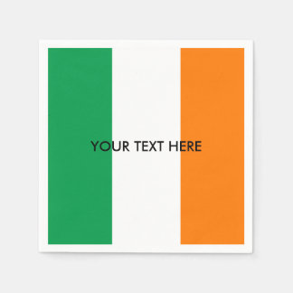 アイルランドのカスタムなパーティーのナプキンのアイルランドの旗 スタンダードカクテルナプキン