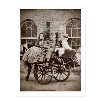 アイルランドのカートおよび馬1800's ポストカード