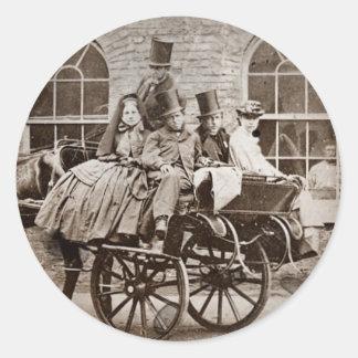 アイルランドのカートおよび馬1800's ラウンドシール