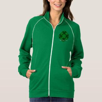 アイルランドのクローバーのサボテンの女性のフリーストラックジャケット ジャケット
