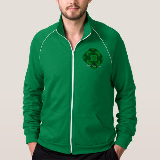 アイルランドのクローバーのサボテンメンズフリーストラックジャケット ジャケット