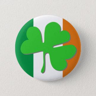 アイルランドのクローバーの旗 缶バッジ