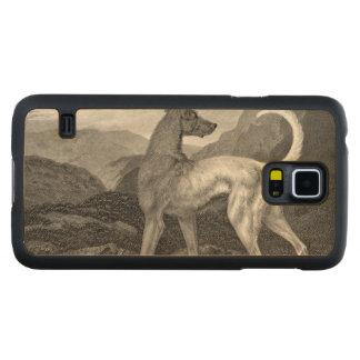 アイルランドのグレイハウンド犬 CarvedメープルGalaxy S5スリムケース